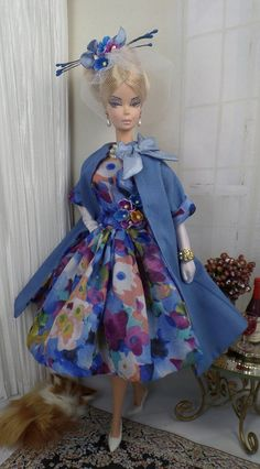 Blue Summer for Silkstone Barbie  OOAK  Doll by MatisseFashions  $105.00