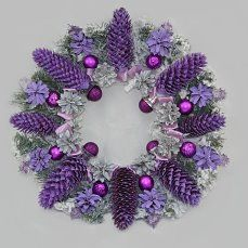 Gorgoues Painted Purple/Lavender Pinecone Wreath . (50) Одноклассники
