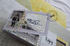 Scrapbooking Technique, Mixed Media Scrapbooking, Mini Albums Scrapbook, Paper Bag Album, Minis, Washi, Album Book, Handmade Books, Mini Books