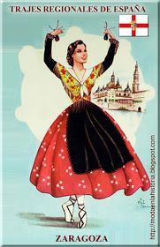 Spanish Speaking Countries, Sewing Art, Aragon, How To Speak Spanish, Femininity, Doll Patterns, Folklore, Regional, Traditional Outfits