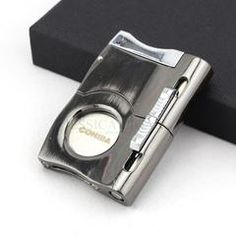 COHIBA Metal Three-in-One Multifunctional Super Sharp Blades Cigar Cutter Biult-in 2 Cigar Punch Smoking Smoking w/ Gift Box Cigars And Whiskey, Whisky, Custom Lighters, Cigar Accessories, Modern Gentleman, Cigar Cutter, Multifunctional, Punch, Blade