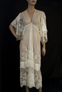 Silk lace peignoir, early 1920s, from the Vintage Textile archives. For Lady Mary!