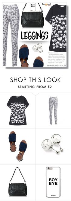 """""""Wardrobw staples: Leggings!"""" by wannanna ❤ liked on Polyvore featuring Tory Burch, Leggings and WardrobeStaples"""