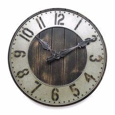 New Large Rustic Punched Metal Wall Clock Wood Home Decor Old Fashion Farmhouse in Wall Clocks Farmhouse Clocks, Rustic Wall Clocks, Rustic Walls, Wood Clocks, Farmhouse Decor, Diy Wall Clocks, Farmhouse Style, Clock Wall, Clock Decor
