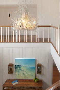 Foyer Lighting. Foyer Lighting Ideas. Coastal Foyer Lighting #FoyerLighting  Ben Gebo Photography. Annsley Interiors.
