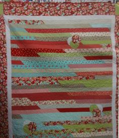 Jelly Roll Race Quilt Ideas | View Large Image
