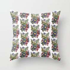 Wildflower Throw Pillow FREE Worldwide Shipping + 20% Off Throw Blankets and Pillows when when you order from my Society6 Store. promotion is only available once someone clicks on the link SEE THE POST Promotion expires February 7
