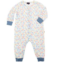 Paul Smith Junior Age 6M to 24M White Illustrated Star Print Sleepsuit