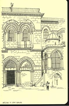 In 2011, I spent a year in Jerusalem. These are some of the sketches I did there.