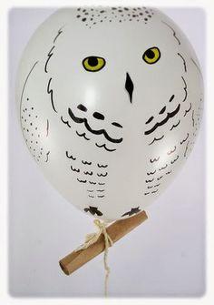 Hedwig Balloon. So cute >.< ^^