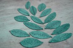 Leaves Iron on patches jacket botanical No sew applique by Mamooby