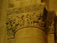 Capitelli interno della chiesa di San Michele maggiore a Pavia