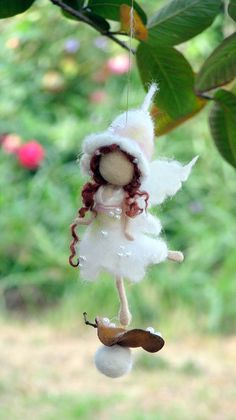 Fairy ornament Needle felted Fantasy doll Waldorf inspired