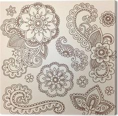 Illustration of Hand-Drawn Intricate Abstract Flowers and Mandala Mehndi Henna Tattoo Paisley Doodle - Illustration vector art, clipart and stock vectors. Paisley Doodle, Henna Mehndi, Tattoo Henna, Henna Art, Mehendi, Hand Tattoo, Maori Tattoos, Snake Tattoo, Sleeve Tattoos