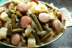 This recipe for Crock-Pot Potatoes, Sausage And Green Beans is reminiscent of a depression era recipe my grandma used to make. Very easy and frugal too!