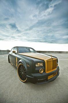 ♂ olive green car Platinum Motorsport X Shock Mansion - ROLLS GOLD custom PHANTOM!