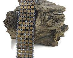 Tila Beaded Cuff Bracelet, Matte Bronze Cuff, Bronze Cuff Bracelet, Tube Clasp Cuff Bracelet by jbtilas. Explore more products on http://jbtilas.etsy.com