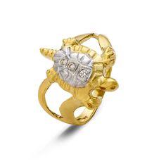 Δίχρωμο Δαχτυλίδι 14Κ με Ζιργκόν #ring #gold #jewellery