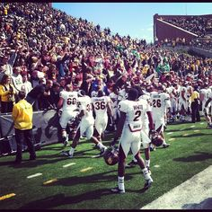 Football team celebrates with the fans after our big win on Saturday. Fire Up Chips! Central Michigan, Super Star, Football Team, Dolores Park, Chips, Fans, College, Big, Celebrities
