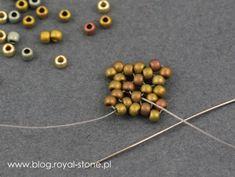 Dracconis – smocze kolczyki – tutorial   Royal-Stone blog Handmade Beaded Jewelry, Beaded Jewelry Patterns, Beading Patterns, Earrings Handmade, Bead Jewellery, Bead Earrings, Bead Crafts, Jewelry Crafts, Make Jewelry