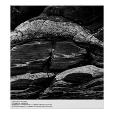 In Deep Canyon Rock Detail by Ansel Adams Posters