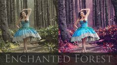 Adobe Photoshop Tutorials CS6 How to Magical Forest vibrant colors contr...