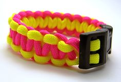Orange and pink survival bracelet