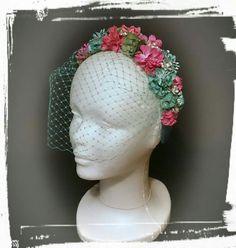 Tocado flores, headpiece, bridal headpieces,  flower millinery