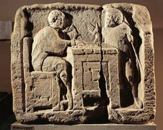 Tax collector, Roman relief