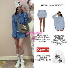Kpop Outfits, Korean Outfits, Blackpink Fashion, Fashion Outfits, Korean Fashion Trends, Skirts With Pockets, My Girl, Stylists, Mac