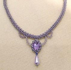 Purple Delight Necklace Beading Pattern