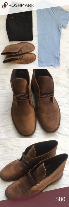 Beeswax Leather Chukka Boots NWOT Men's Clarks boots ➵ Bushacre 2 Desert Boot style ➵ Beeswax leather ➵ Chukka boot silhouette ➵ cushioned insole ➵ 2 eyelet lace-up front ➵ NWOT these have only been tried on ➵ does not come with box ➵ please note that any marks on the shoe are from the natural soft leather style Clarks Shoes Chukka Boots
