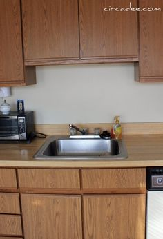 How To Paint Veneer Kitchen Cabinets Painting Laminate Cabinets With No Prep Work  Repurpose And .
