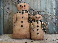 Schneeman Snowmen of . Primitive Christmas Patterns, Primitive Snowmen, Christmas Snowman, Christmas Holidays, Christmas Crafts, Snowman Decorations, Snowman Crafts, Christmas Decorations, Snow Men