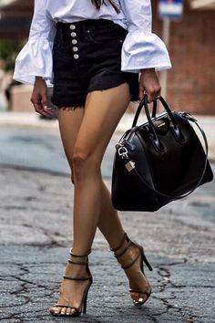 f6347fc48 Button High Waist Denim Shorts – Amilyonline