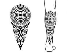 Maori Tattoo Patterns, Maori Patterns, Geometric Tattoo Pattern, Geometric Mandala Tattoo, Arrow Tattoos, Leg Tattoos, Tribal Tattoos, Estilo Tribal, Polynesian Tattoo Designs