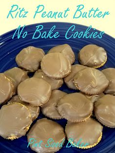 Peanut Butter Cookies Ritz cookies (with chocolate or substitute another meltable candy/wafer)