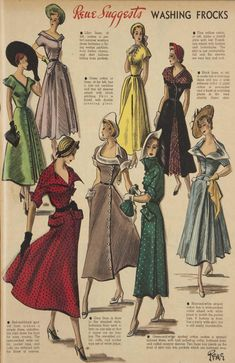 Issue: 22 Oct 1949 - The Australian Women's Wee. 1940s Vintage Dresses, Vintage Dress Patterns, 70th Birthday Parties, Guys And Dolls, Birthday Dresses, Vintage Knitting, Fashion Addict, Frocks, Knitting Patterns