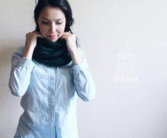 17 отметок «Нравится», 2 комментариев — СВИТЕР ДЖЕМПЕР КАРДИГАН (@house_knitwear) в Instagram: «#house_knitwear_вналичии  Вязаный снуд в два оборота красивого темно - зелёного цвета 💚  Повтор/…»
