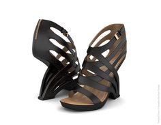 Tangled Shoes by Iskender Asanaliev, via Behance
