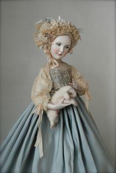 Easter by Olga Sukachev Dollhouse Dolls, Miniature Dolls, Pretty Dolls, Beautiful Dolls, Antique Dolls, Vintage Dolls, Enchanted Doll, Fairy Dolls, Classic Toys