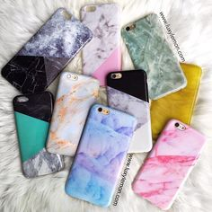 So cute! Marble phone cases!