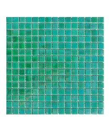 Lustre Pearl/Forest 20x20mm Glass Mosaic