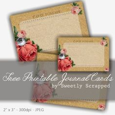 Free printable journal cards, by sweetly scrapped