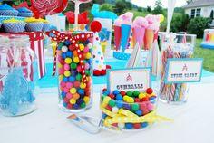 Circus party theme candy bar! #SocialCircus