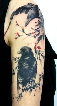 raben tattoo, raven tattoo, nordische tattoo