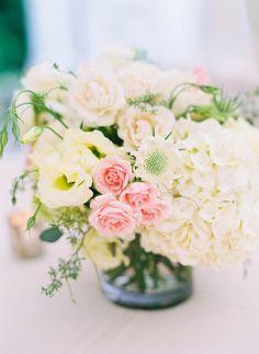 Pretty & Chic Virginia Wedding from Jodi Miller Photography - wedding centerpiece flower idea