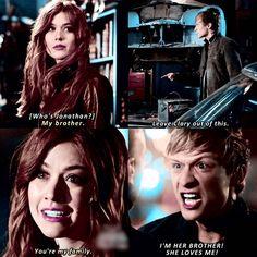 "#Shadowhunters 2x17 ""A Dark Reflection"" - Clary and Jonathan"
