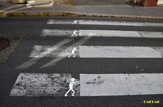 Street artist transforms urban blemishes into visual wisecracks : TreeHugger