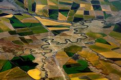 Aerial view over Ethiopia's agricultural fields Photo by Delirante Bestiole (Exact location not given)